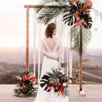 #1 Cổng cưới lá dừa đơn giản-đẹp-giá rẻ