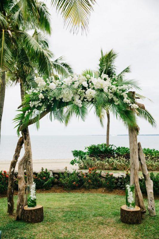 cổng cưới lá dừa đẹp