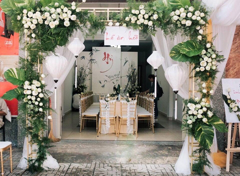 Trang trí cổng hoa cưới ở đâu đẹp nhất?