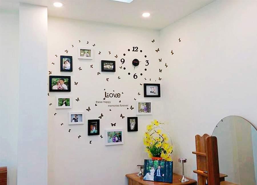 Trang trí phòng cưới bằng giấy decal dán tường