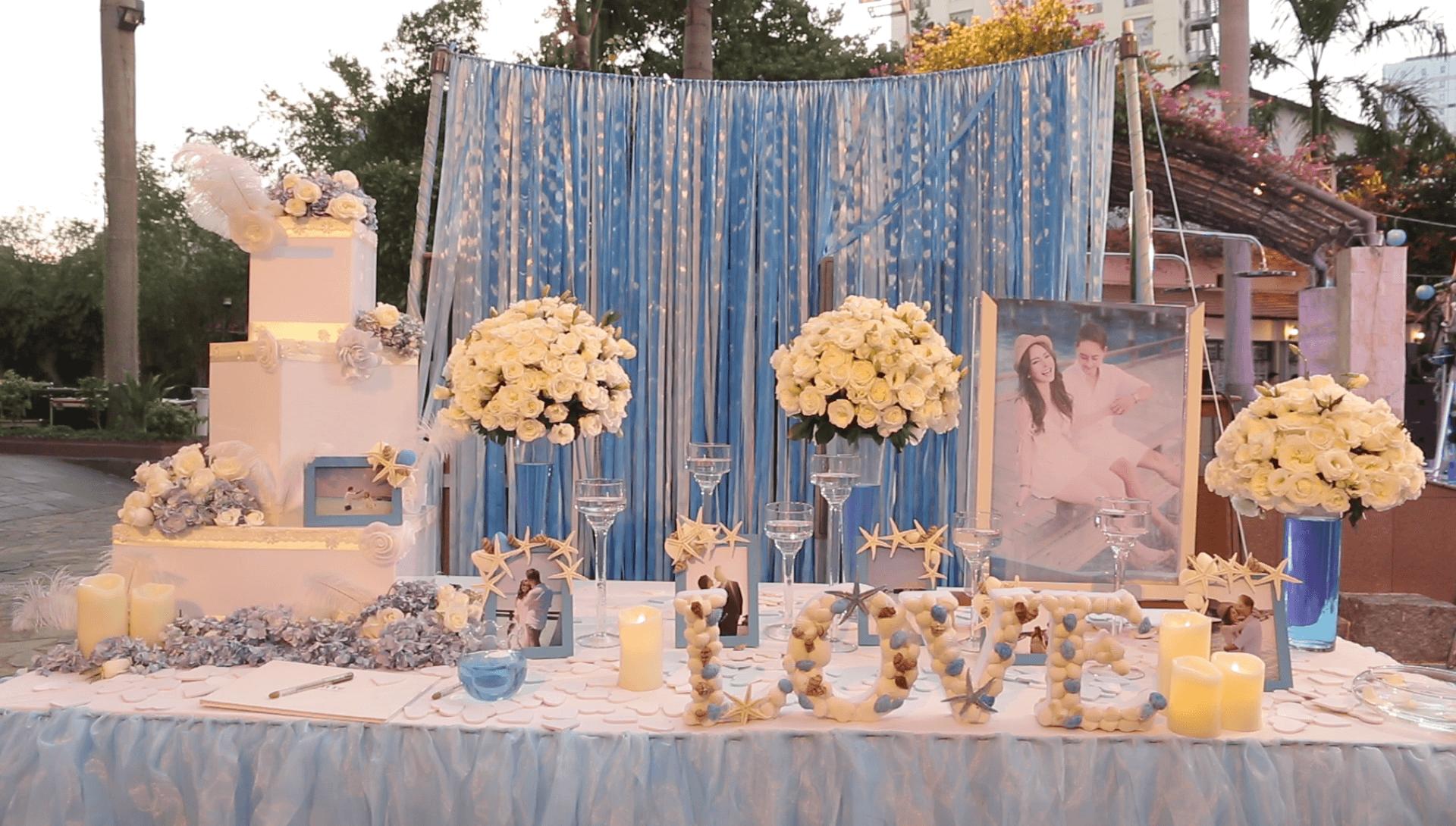 Trang trí sảnh lễ tân tiệc cưới