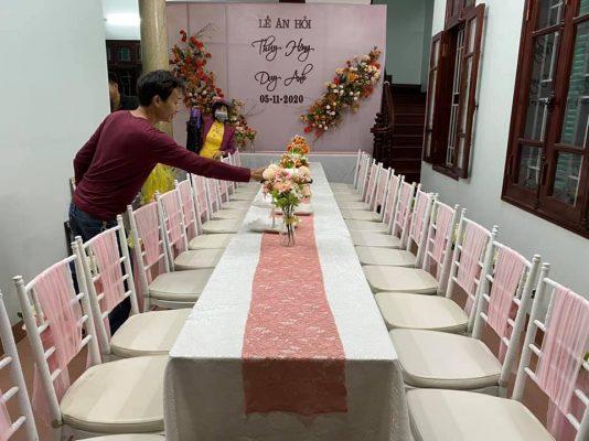 bàn ghế sự kiện đẹp
